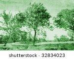 vintage trees art | Shutterstock . vector #32834023