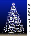 decorated christmas tree. | Shutterstock .eps vector #328359167