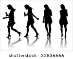 drawing phases of motion girl... | Shutterstock . vector #32836666