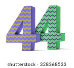 Colorful Paper Mache Number On...