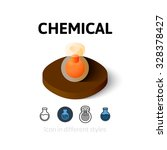 chemical icon  vector symbol in ...