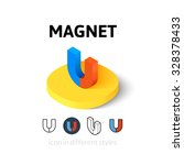 magnet icon  vector symbol in...