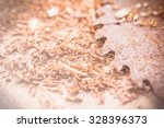 close up of circular saw and... | Shutterstock . vector #328396373