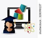 student graduation design over... | Shutterstock .eps vector #328398137