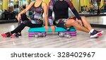 fitness instructor exercising... | Shutterstock . vector #328402967