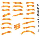 vector set of ribbons | Shutterstock .eps vector #328404593