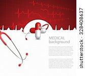 abstract medical cardiology ekg ... | Shutterstock .eps vector #328408637