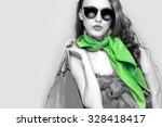 Beautiful Shopping Woman. Blac...