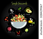 simple gaucamole recipe layout... | Shutterstock .eps vector #328429067