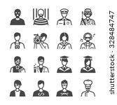 occupation icons set | Shutterstock .eps vector #328484747