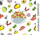 various vegetables icons set... | Shutterstock .eps vector #328499123