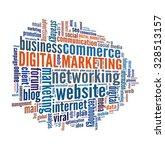 digital marketing in word... | Shutterstock . vector #328513157