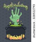 halloween   zombie hand from... | Shutterstock .eps vector #328522793