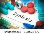 dyslexia   diagnosis written on ...   Shutterstock . vector #328523477