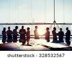 back lit business people... | Shutterstock . vector #328532567