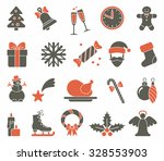 christmas icons | Shutterstock .eps vector #328553903