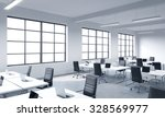 corporate workplaces equipped... | Shutterstock . vector #328569977