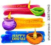 illustration of happy diwali...   Shutterstock .eps vector #328576943