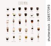 coffee types set. vector...