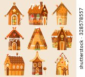 Set Of 9 Festive Gingerbread...