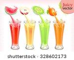 fruit juice splash | Shutterstock .eps vector #328602173
