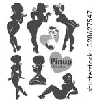 vector collection of pinup... | Shutterstock .eps vector #328627547