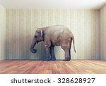 lone elephant in the room.... | Shutterstock . vector #328628927