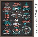 christmas vintage design... | Shutterstock .eps vector #328641017