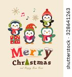 funny christmas card and poster ... | Shutterstock .eps vector #328641263