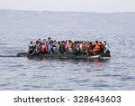 lesbos  greece  oktober 11 2015 ... | Shutterstock . vector #328643603