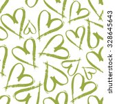 Green Hearts Pattern