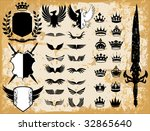 medieval   royal vector design... | Shutterstock .eps vector #32865640