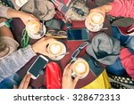 group of friends drinking... | Shutterstock . vector #328672313