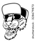 rap dog | Shutterstock .eps vector #328679873