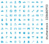 lifestyle 100 icons universal... | Shutterstock . vector #328680953