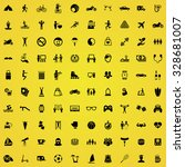 lifestyle 100 icons universal... | Shutterstock . vector #328681007
