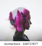 creative double exposure with... | Shutterstock . vector #328717877