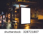 mock up of light box on the bus ... | Shutterstock . vector #328721807