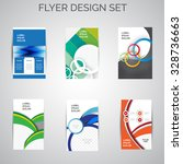 vector set of business flyer... | Shutterstock .eps vector #328736663
