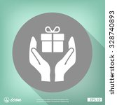pictograph of gift | Shutterstock .eps vector #328740893