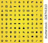 security 100 icons universal... | Shutterstock . vector #328741313