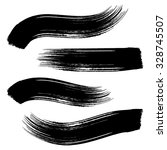 various vector black brush... | Shutterstock .eps vector #328745507