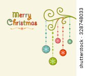 christmas bauble tree right... | Shutterstock .eps vector #328748033