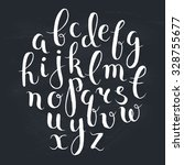 handmade letters. handwritten... | Shutterstock .eps vector #328755677