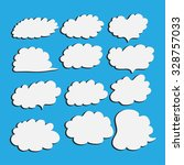 set of cloud vector illustrator | Shutterstock .eps vector #328757033