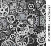 gears and cogwheels background. ... | Shutterstock .eps vector #328761317