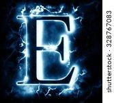 lightning letter e   Shutterstock . vector #328767083