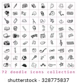 big doodle set  collection... | Shutterstock .eps vector #328775837