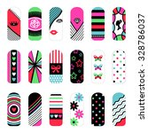fashion set of stickers  in pop ... | Shutterstock .eps vector #328786037