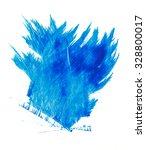 brushstroke blue paint | Shutterstock . vector #328800017